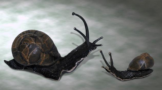 Bronze snail