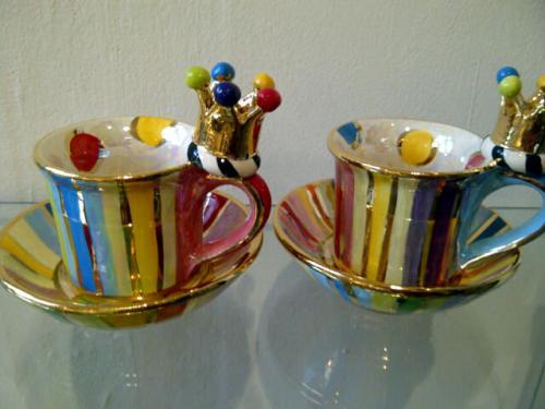Ceramic Crown Demi- Tasse and saucer
