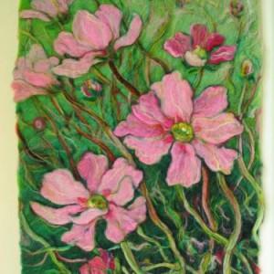 Hand felted art work