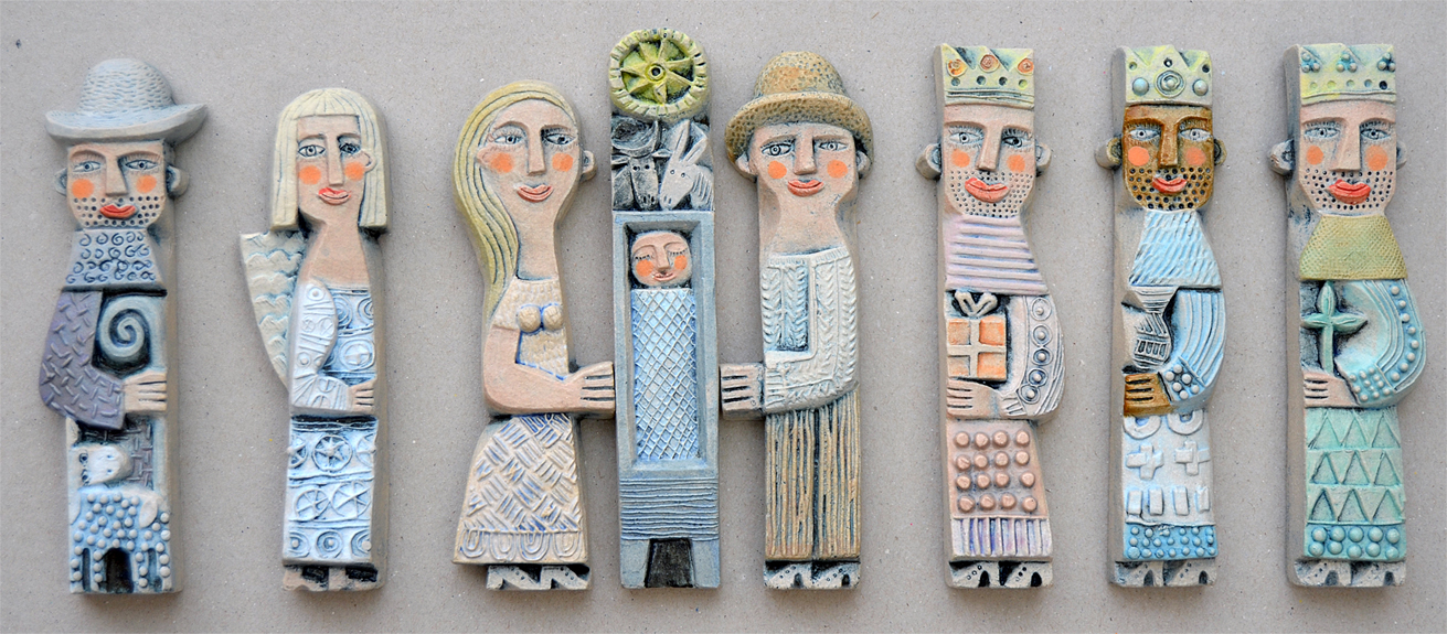 Nativity 7 ceramic relief