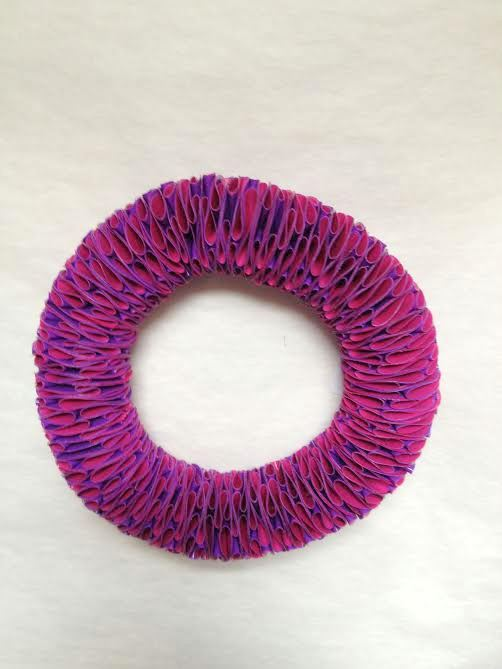 Polythene Hot Pink & Purple Bangle