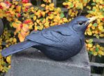 Stoneware Blackbird sculpture