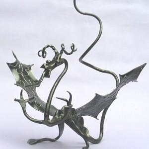 Forged iron dragon