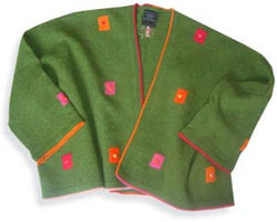 Felted wool cropped jaccket