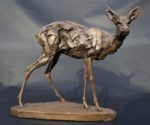 Cold Cast Bronze Roe Deer Doe sculpture