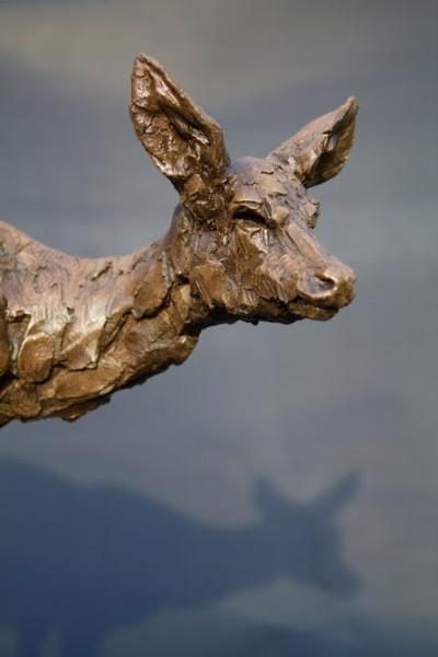 Roe Deer Doe cold cast bronze sculpture