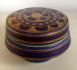 Mary Rich blue lidded pot