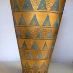 Porcelain fan vase by Mary Rich