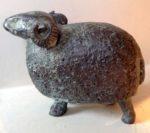 Cold cast bronze standing ram