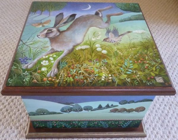 hand painted box by Jemima Jameson