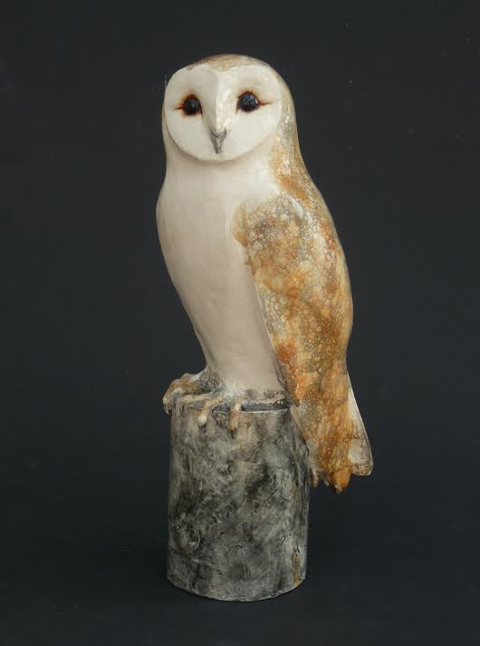 Ceramic Barn Owl by Michelle Hall