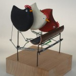 wood, wire and copper automata,