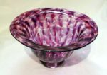 Hand blown lilac ruby Urchin bowl
