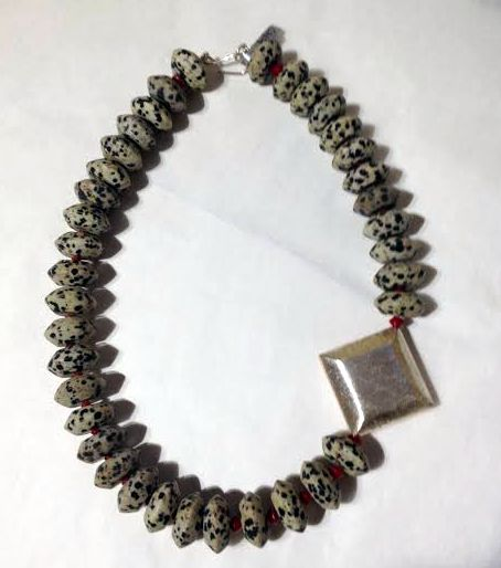 Necklace in Dalmatian Jasper