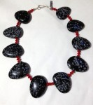 Necklace in Snowflake Obsidian