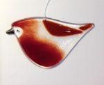 Fused Glass Robin