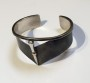 Oxidised silver cuff