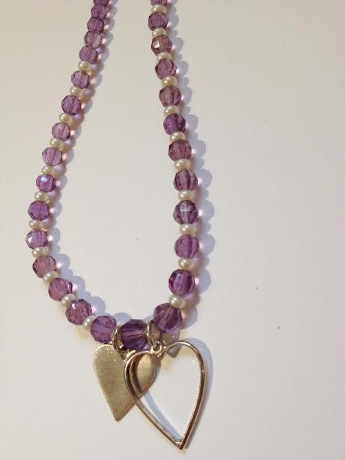 Amethyst and Pearl Necklace