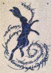 Raku Tile Dancing Hare