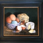 Still Life in oil on board
