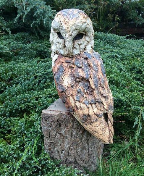 Stoneware barn owl