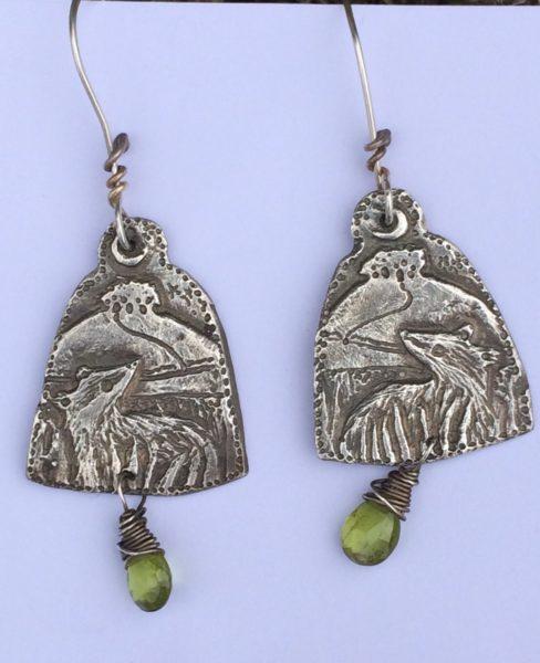 Earrings in Silver – Badgers