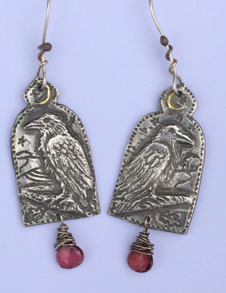 Earrings in silver - Ravens
