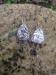Silver Earrings with Badgers
