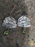 Silver Hare Earrings with Peridot