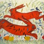 Giclee Print Hares & Crows