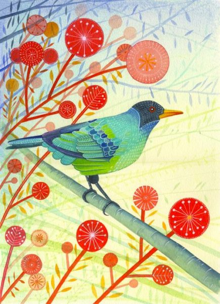 Giclee Print Green Honeycreeper.