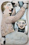 Ceramic Relief Father & Son