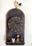 Carved Wood Egg Timer Clock