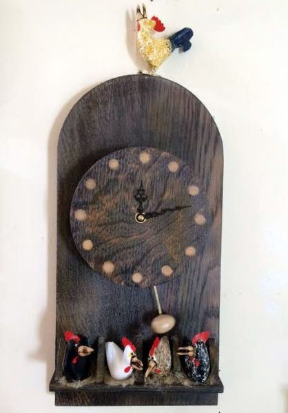 Carved Wood Egg Timer Clock