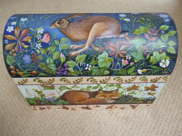 Hand painted domed box 'Enchanted Night'