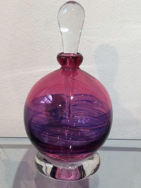 Hand blown scent bottle