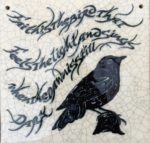 Raku Blackbird Tile