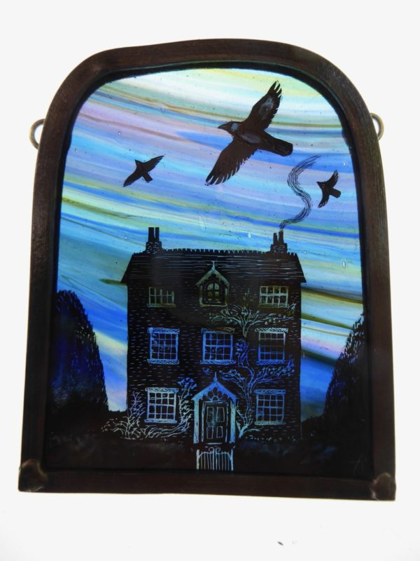 Stained Glass Panel Jackdaw House