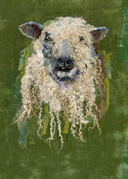 Wensleydale Sheep textile