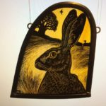 Stained Glass Sunset Hare