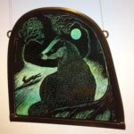 Stained Glass Panel Badger
