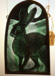 Stained Glass Moonlight Hare