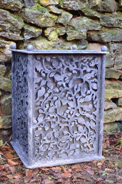 Forged Iron Galvanised Garden Planter
