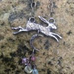 Large Silver Hare Pendant