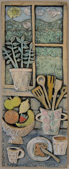Ceramic Relief Kitchen Window
