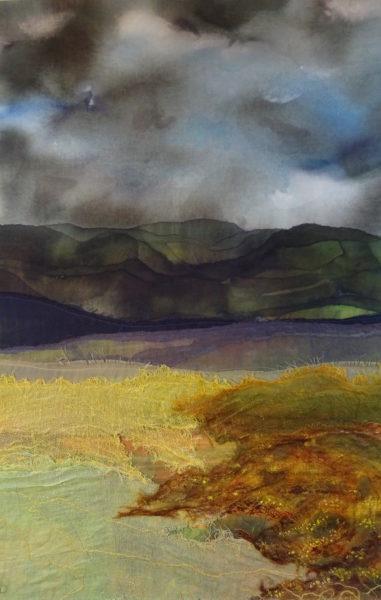 Hergest Ridge ll Textile Collage