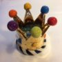 Ceramic Crown Candle holder