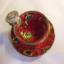 Ceramic Demi Tasse and saucer in Red with Rose