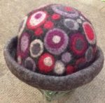 Hand Felted hat in dark grey