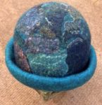 Hand Felted Hat in Turquoise Blue